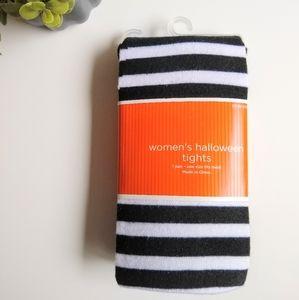 NWT Black & White Striped Tights